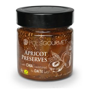 Pol's Gourmet Apricot Preservers with Chia Seeds 284 gr.